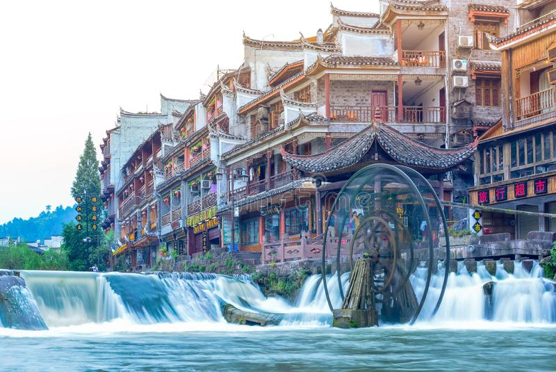 Krajobraz Phoenix antyczny townFenghuang, Hunan, Chiny obraz royalty free