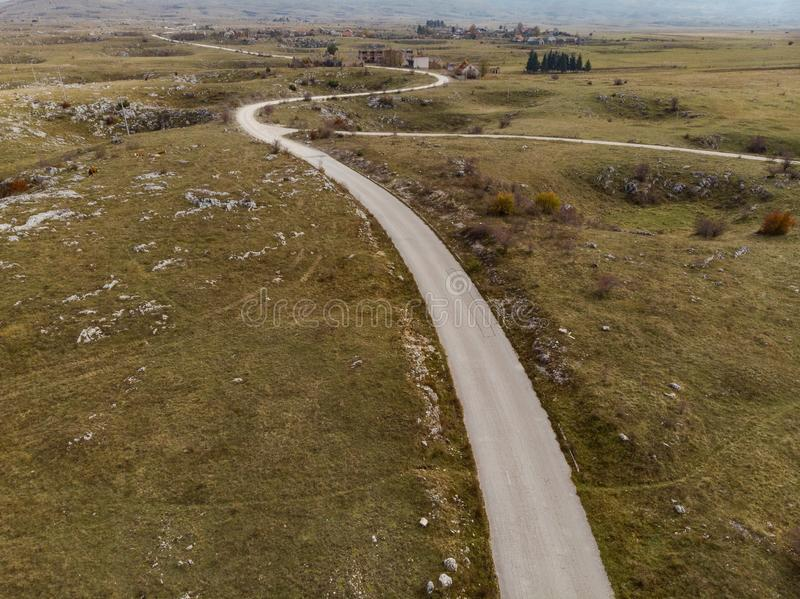 Krajobraz po Bałkańskiego konfliktu, miasto widmo w Bośnia obraz stock
