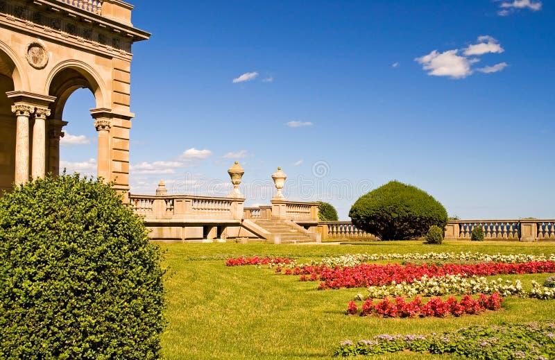 krajobraz posiadłości patio obraz royalty free