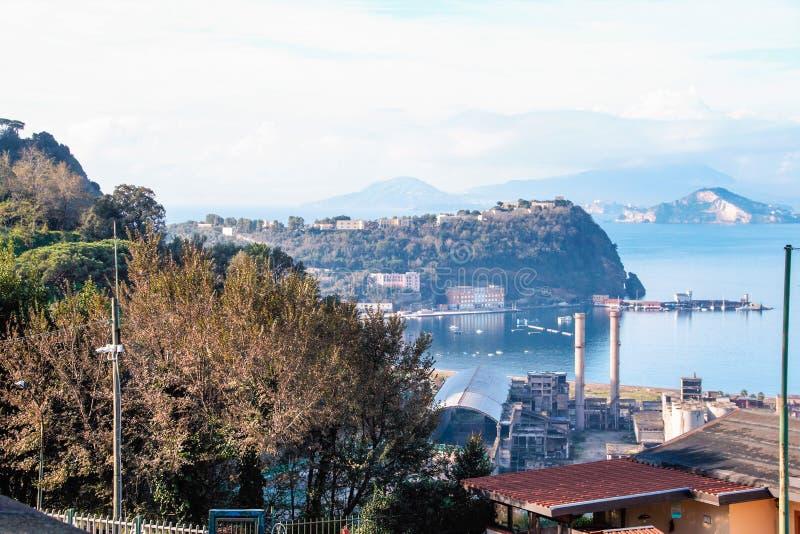 Krajobraz Posillipo, Naples fotografia stock