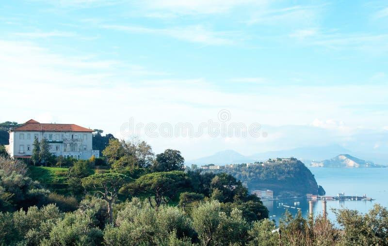 Krajobraz Posillipo, Naples obrazy royalty free
