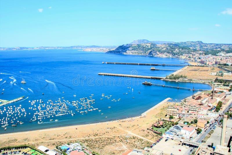 Krajobraz Posillipo Naples zdjęcie stock