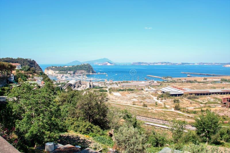 Krajobraz Posillipo Naples obrazy royalty free