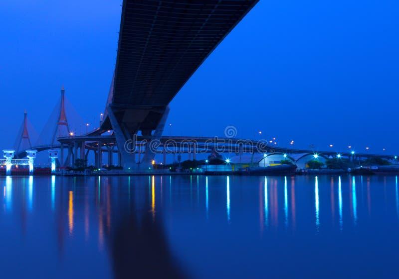 Krajobraz Przemysłowy most zdjęcie royalty free