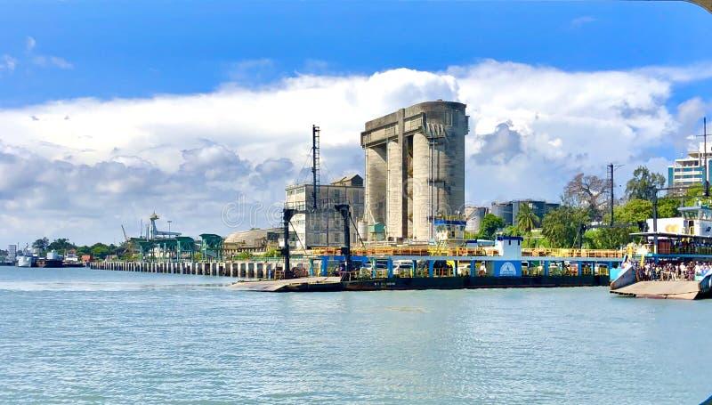 Krajobraz przemysłowy oceanu obrazy stock