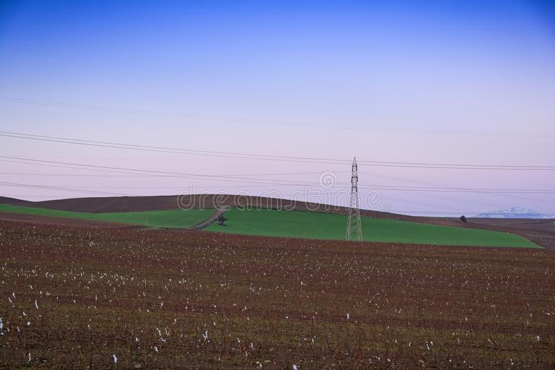 Krajobraz przy równiną Thebes, Grecja fotografia royalty free