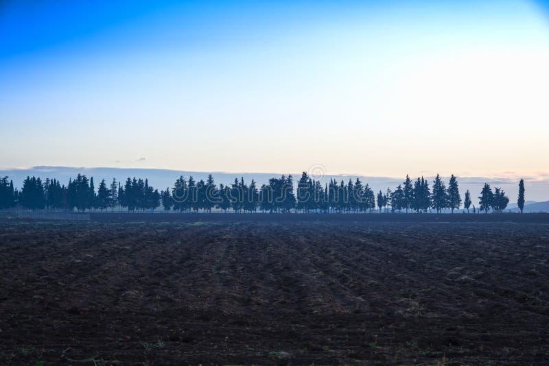 Krajobraz przy równiną Thebes, Grecja zdjęcie royalty free