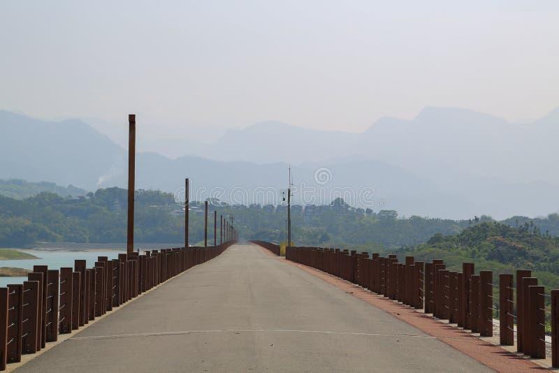 Krajobraz przy Renyitan tamą zdjęcia royalty free