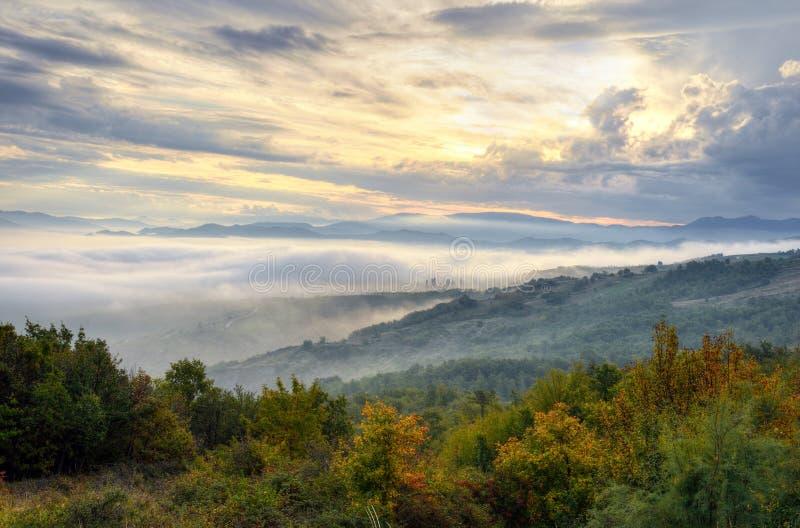 Krajobraz przy zmierzchem fotografia stock