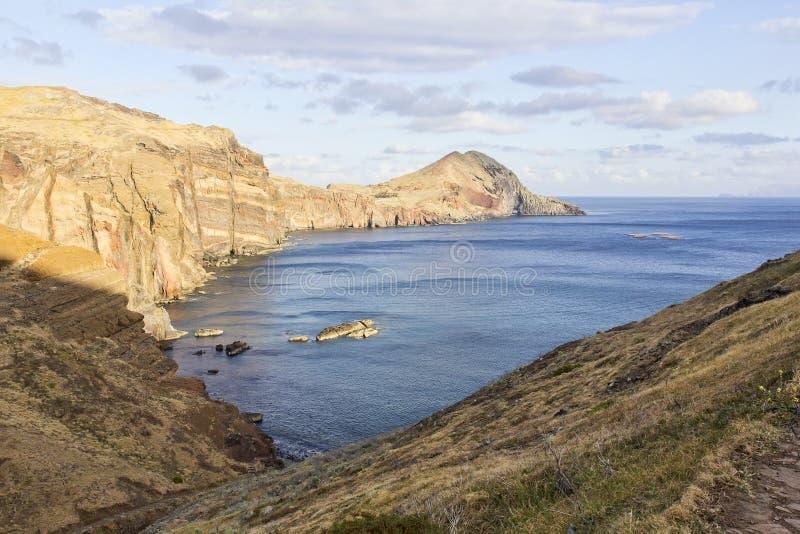 Krajobraz przylądka Ponta de Sao Lourenco na Maderze, Portugalia zdjęcie stock