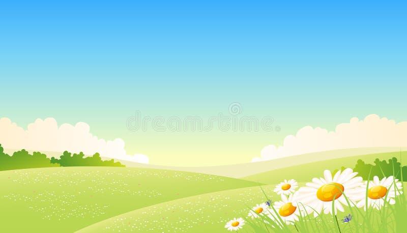 krajobraz przyprawia wiosna lato ilustracja wektor