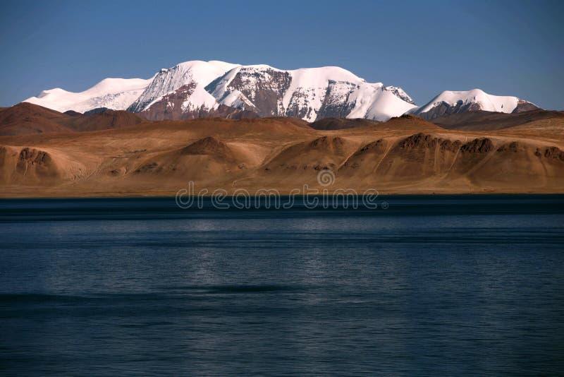 Krajobraz Pumoyongcuo jezioro zdjęcia stock