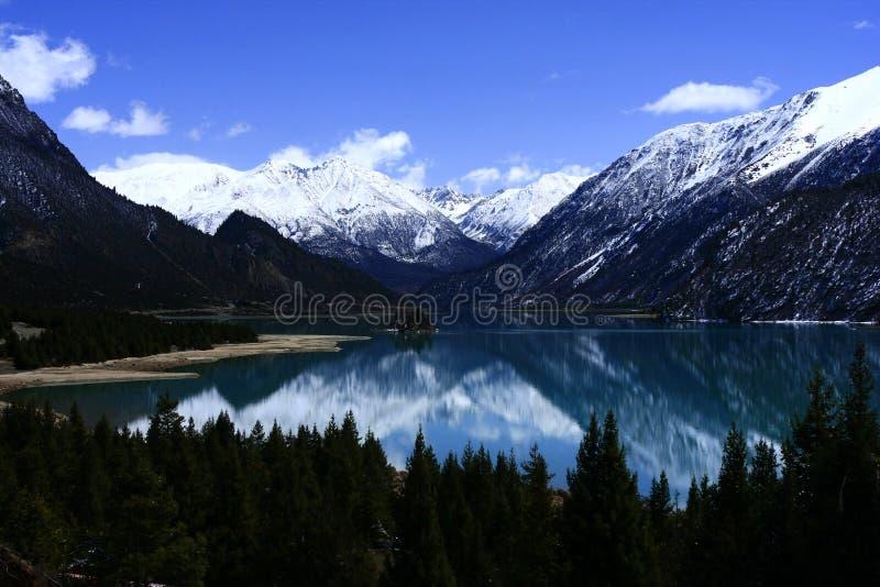 Krajobraz Ranwu jezioro zdjęcia royalty free