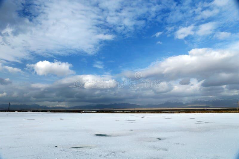 Krajobraz Saka Salt Lake fotografia stock