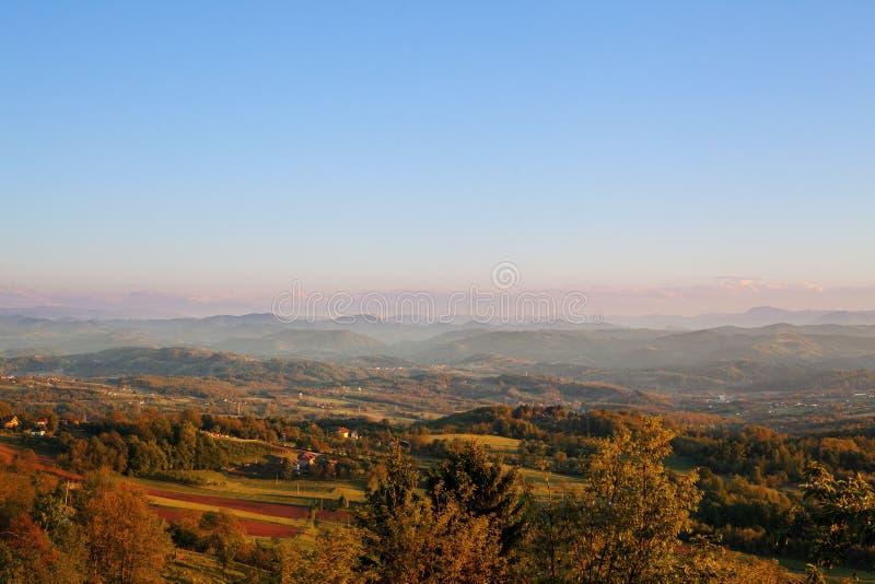 Krajobraz Serbia zdjęcia stock