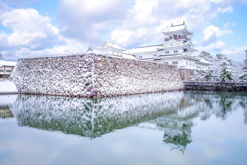 Krajobraz Toyama kasztel w zimie obrazy royalty free