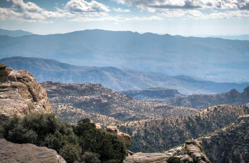 Krajobraz Tucson góry od Wietrznego punktu fotografia royalty free