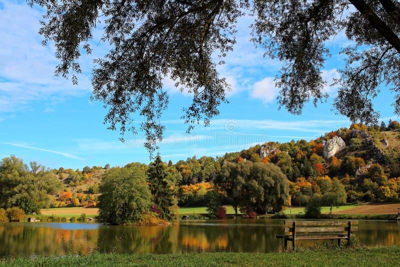 Krajobraz w Altmà ¼ natury hltal parku Indiańskim latem obraz royalty free