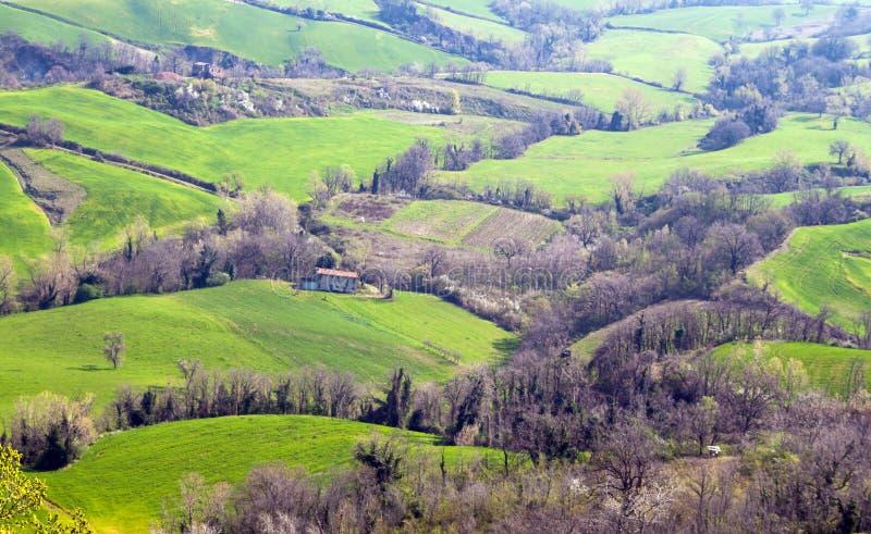 Krajobraz w emilia (Włochy) obrazy stock
