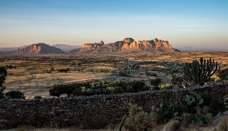 Krajobraz w Gheralta w P??nocnym Etiopia, Afryka fotografia royalty free