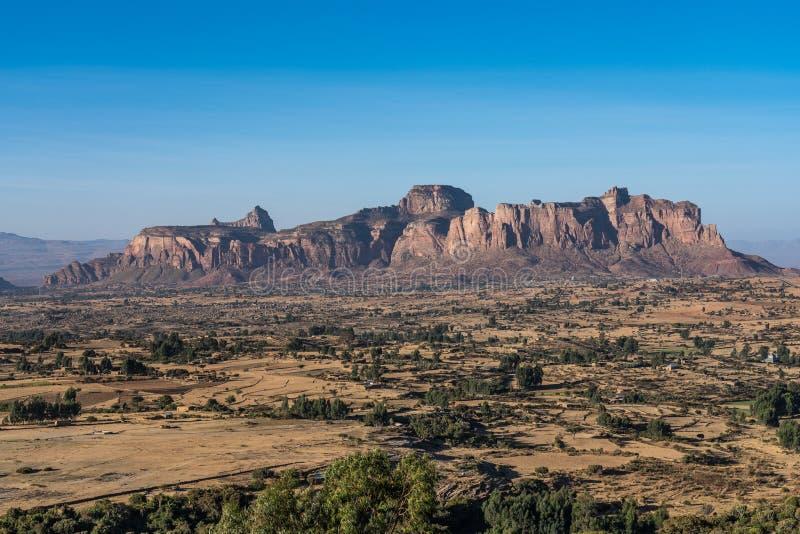 Krajobraz w Gheralta w P??nocnym Etiopia, Afryka zdjęcie royalty free