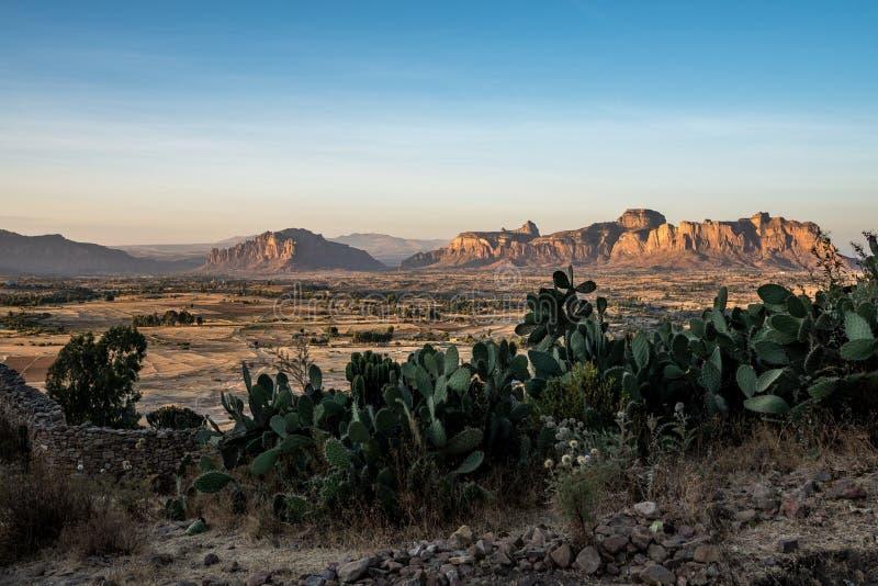 Krajobraz w Gheralta w P??nocnym Etiopia, Afryka obrazy royalty free