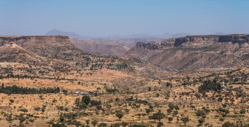Krajobraz w Gheralta w Tigray, P??nocny Etiopia obraz stock