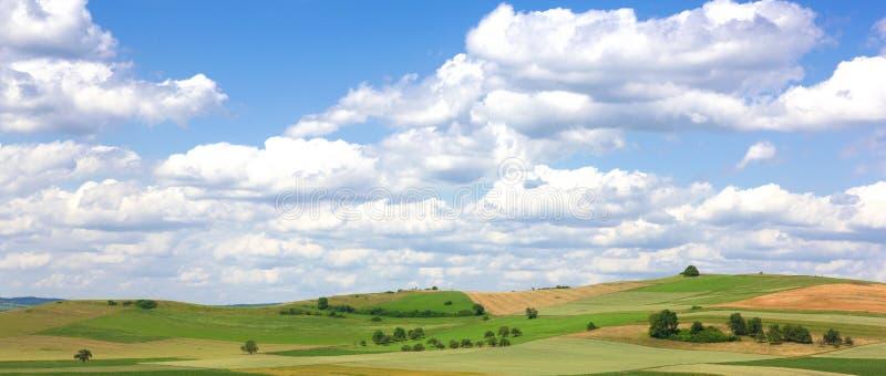 Krajobraz w Hegau, Niemcy fotografia stock