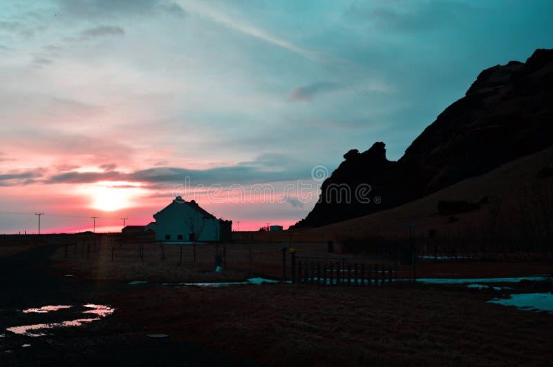 Krajobraz w Iceland obraz royalty free