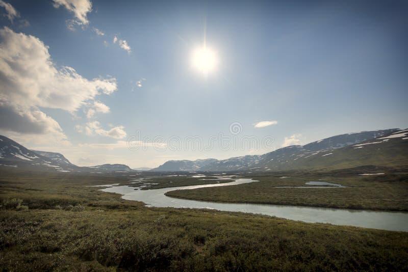 Krajobraz w Lapland, Szwecja zdjęcia stock
