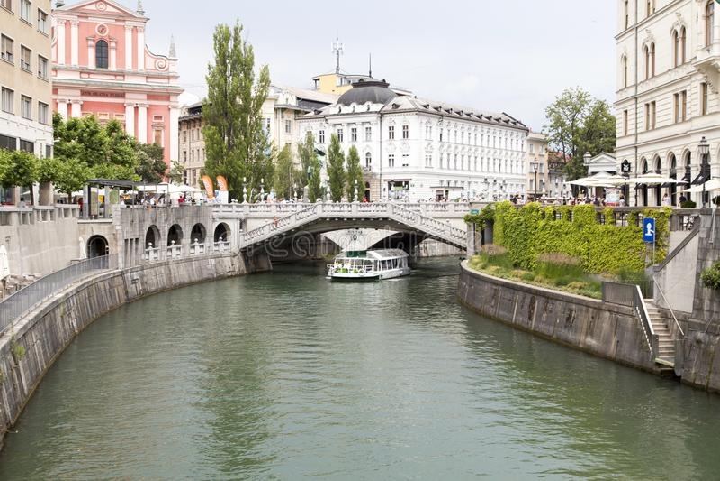 Krajobraz w Ljubljana, Slovenia obraz stock