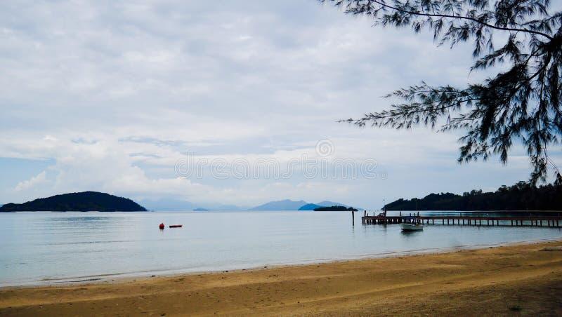 Krajobraz w Mak wyspie obrazy stock