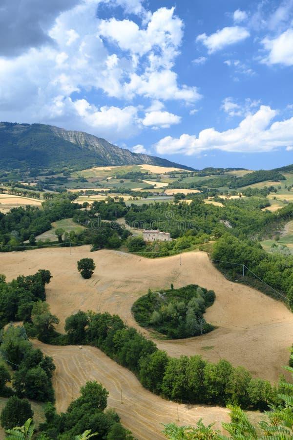 Krajobraz w Montefeltro od Frontino marszów, Włochy obrazy royalty free