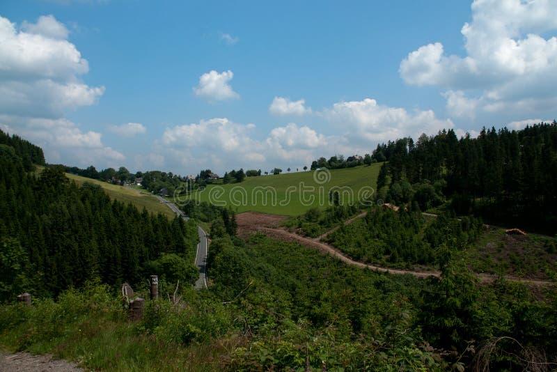 Krajobraz w niemieckich Rothaar górach obraz stock