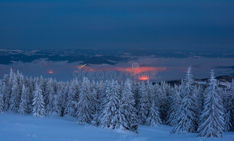 Krajobraz w nocy zdjęcia stock