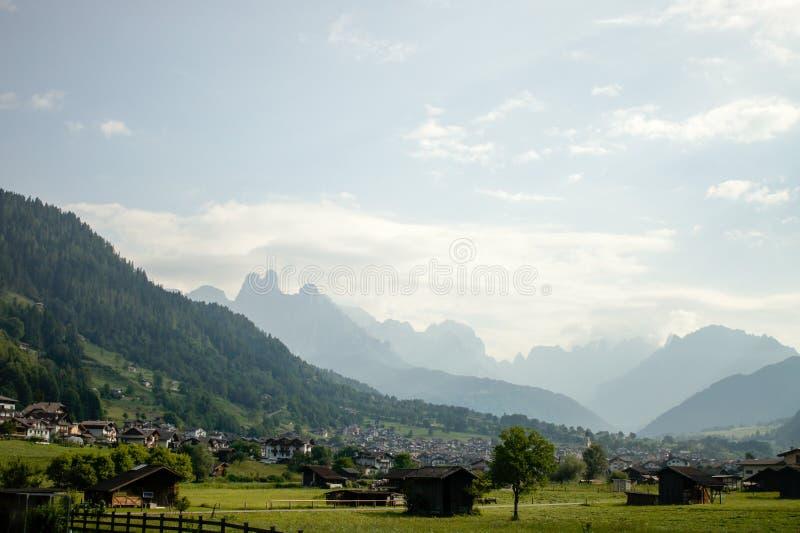 Krajobraz w północy Włochy fotografia stock