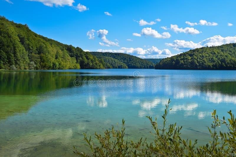 Krajobraz w Plitvice jeziorach zdjęcia stock