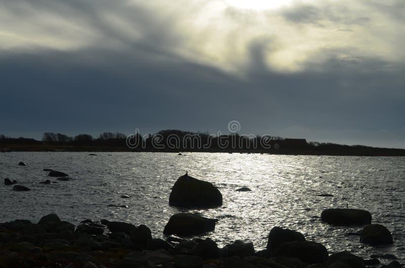 Krajobraz w południe Sweden przy dniem fotografia stock