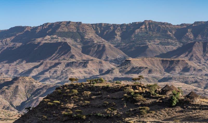 Krajobraz w ?redniog?rzach Lalibela, Etiopia zdjęcia royalty free