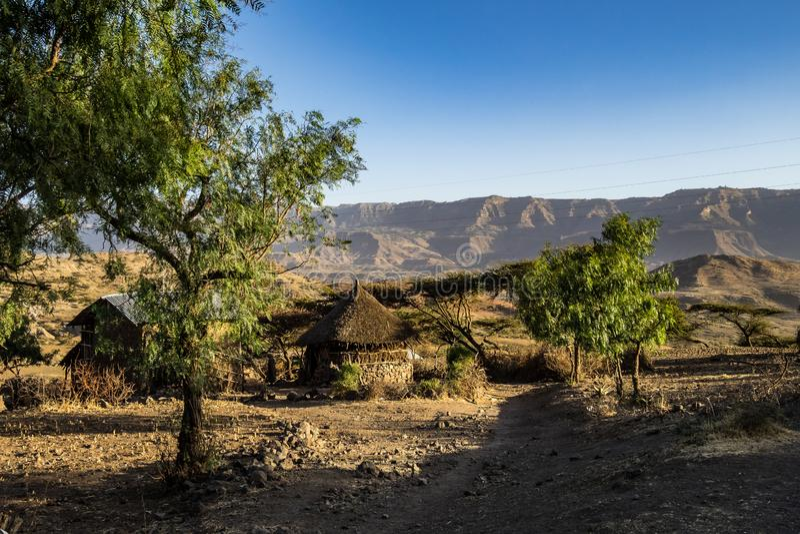 Krajobraz w ?redniog?rzach Lalibela, Etiopia zdjęcie royalty free