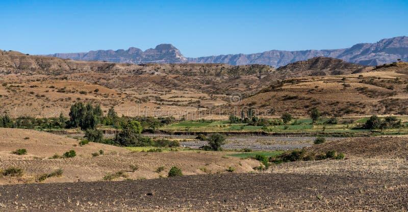 Krajobraz w ?redniog?rzach Lalibela, Etiopia obrazy stock
