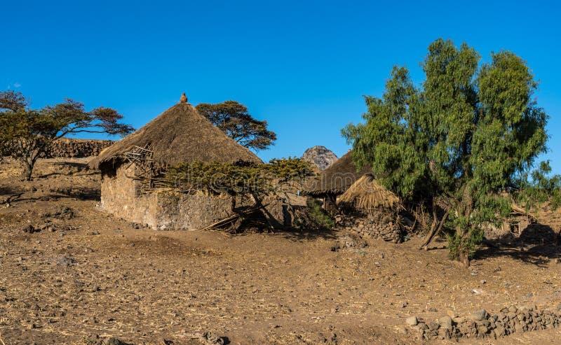 Krajobraz w ?redniog?rzach Lalibela, Etiopia obrazy royalty free