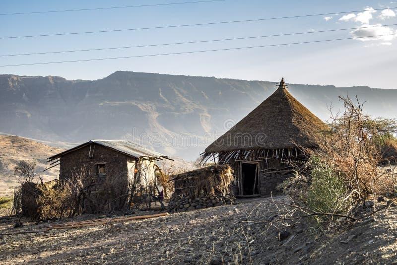 Krajobraz w ?redniog?rzach Lalibela, Etiopia obraz stock