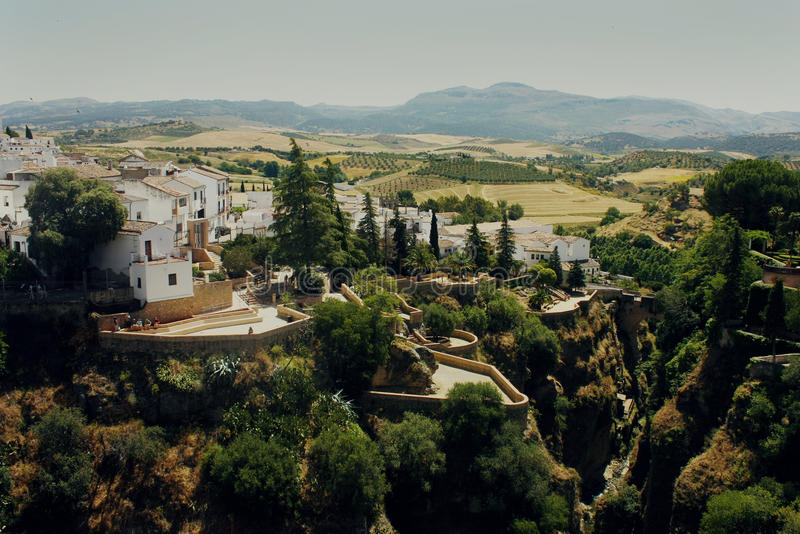 Krajobraz w Ronda, Hiszpania fotografia royalty free