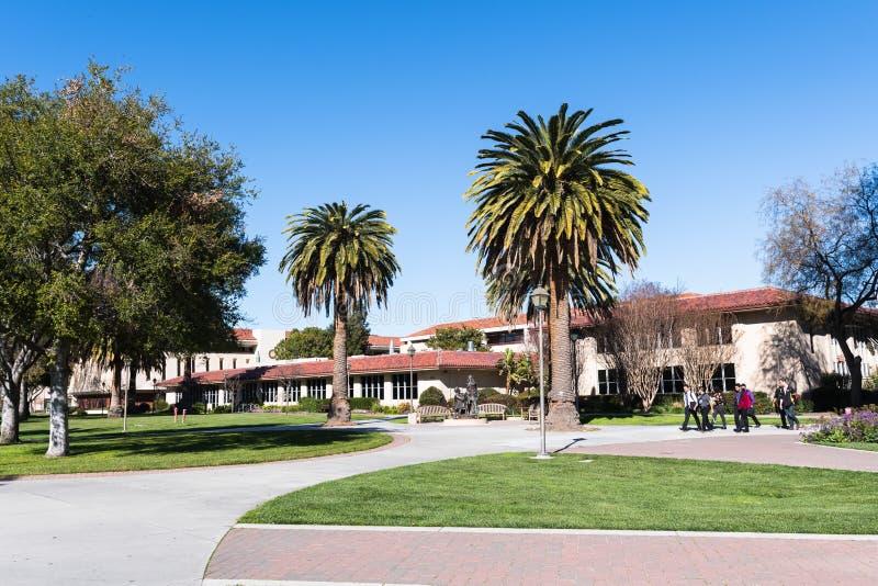 Krajobraz w Santa Clara kampusie zdjęcia royalty free