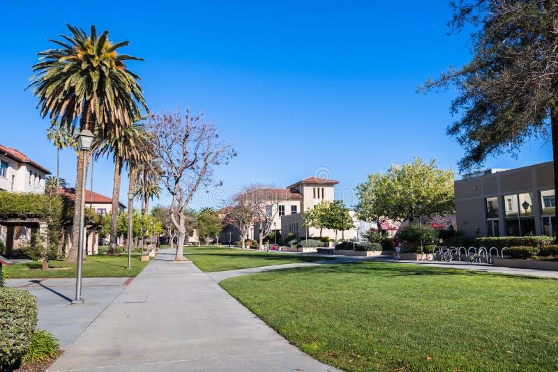 Krajobraz w Santa Clara kampusie zdjęcie stock