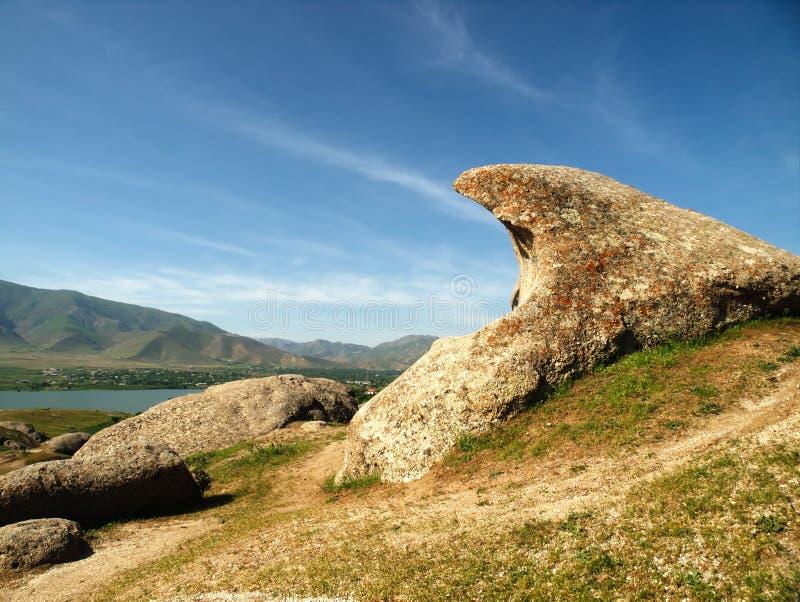 Krajobraz w Uzbekistan. zdjęcia stock