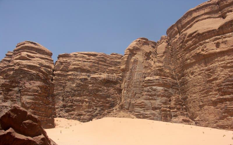Krajobraz wadiego rumu pustynia w Jordania obraz stock