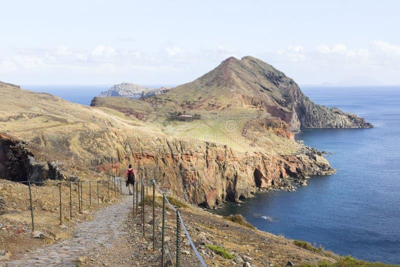 Krajobraz wulkaniczny na przylądku Ponta de Sao Lourenco na Maderze, Portugalia fotografia stock