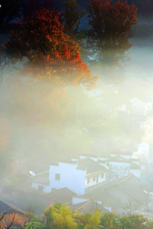 Krajobraz Wuyuan okręg administracyjny zdjęcie royalty free